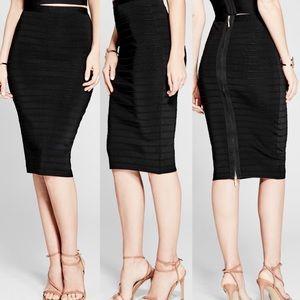 Marciano Shiloh Black Bandage Skirt back zipper